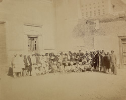 Group portrait of students and staff of the Government College, Lahore